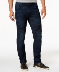 Stanley Men's Slim Fit Stretch Ripped Moto Jeans