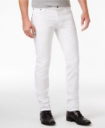 Honor Men's Slim Fit Stretch White Jeans