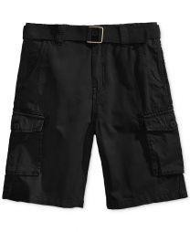 Corey Belted Cotton Cargo Shorts, Big Boys