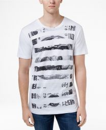 Men's Dollar Stripe Graphic-Print Cotton T-Shirt