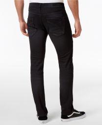 Saticoy Moto Men's Slim Fit Stretch Black Jeans