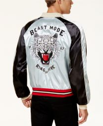 Men's Beast Mode Embroidered Colorblocked Jacket